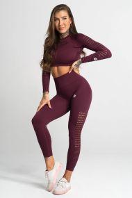 Gym Glamour Legíny Bezšvové Dark Berry