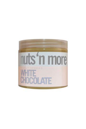 Nuts`N more Arašídové maslo biela čokoláda 454g
