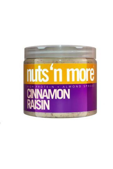 Nuts`N more Mandľové maslo škorica - hrozienka s proteínom 454g