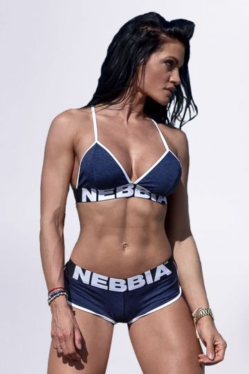 NEBBIA Fitness podprsenka 267 - Modrá