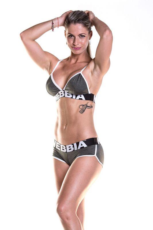 NEBBIA Fitness podprsenka 267 - Khaki