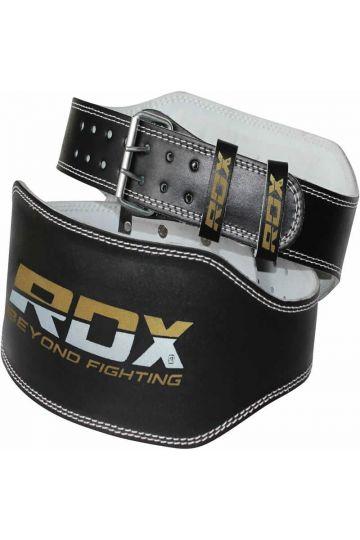 """RDX Leather 6"""" Padded Training Lifting Opasok"""