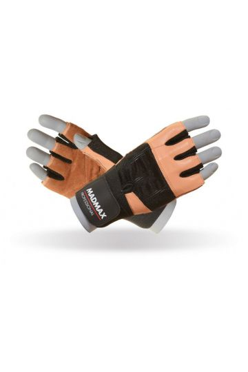 MadMax Fitness Rukavice Professional Natural Brown