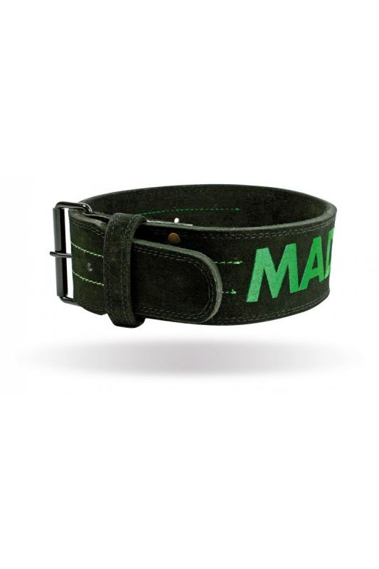 "MadMax Suede Single Prong belt - 4"" 10 mm opasok"