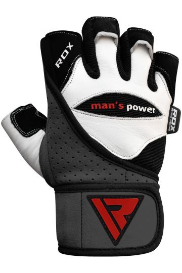 RDX RDX Men's Power Weisse Lederhandschuhe