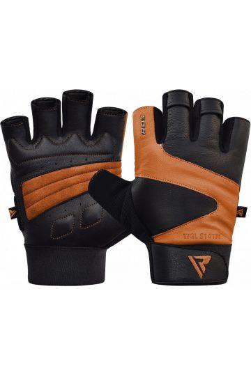 RDX Ferris Fitness Leather S14 TAN rukavice
