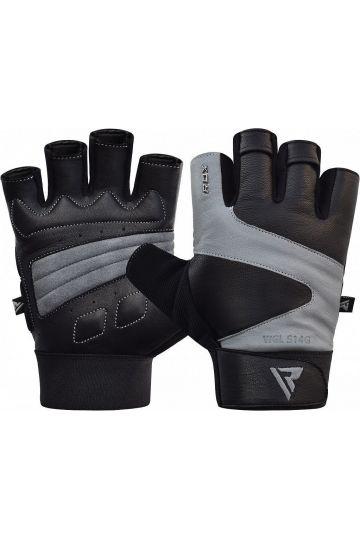 RDX Ferris Fitness Leather S14 GRAY rukavice