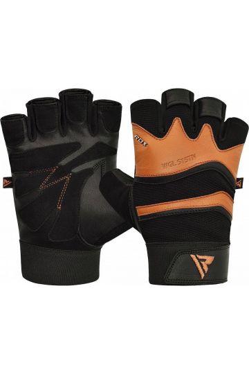 RDX Training Weight Lifting Gym Leather S15 TAN Rukavice