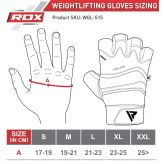 RDX Training Weight Lifting Gym Leather S15 GRAY Rukavice