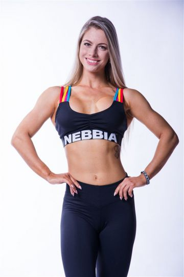 NEBBIA Dámsky Mini Top Rainbow 621