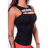 NEBBIA Dámsky Top Rib Cut Out 678