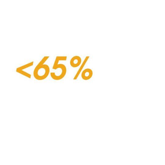 Protein - do 65 %