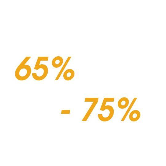 Proteín - od 65 % - 75 %