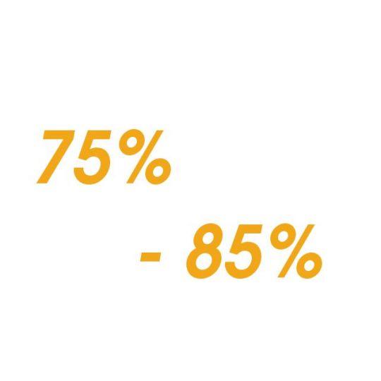 Protein - od 75% - 85%