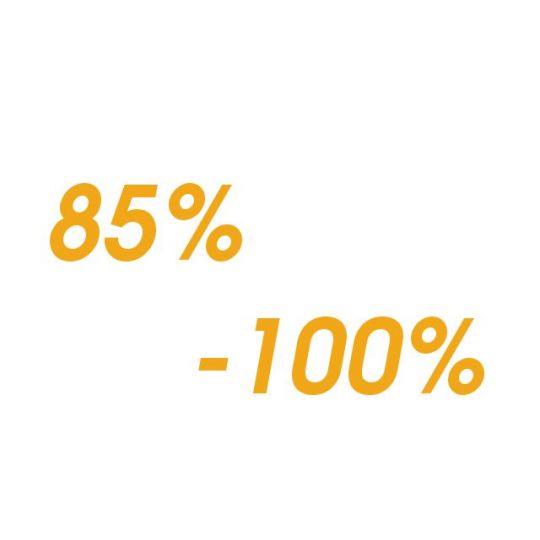 Protein - od 85% - 100%