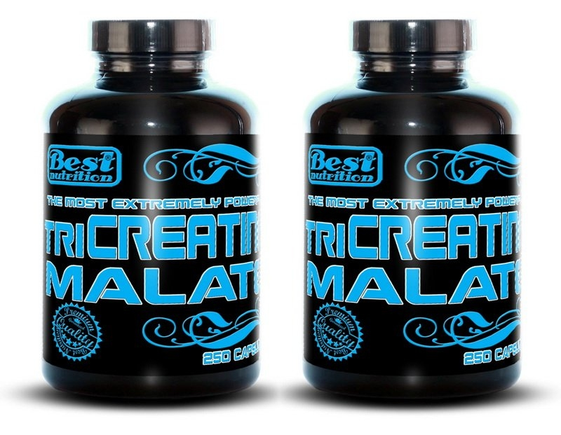 Best Nutrition TriCreatin Malate, 250 kaps, 1 + 1 zadarmo