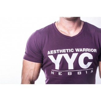 NEBBIA Atheltic Logo tričko 730 Burgundy