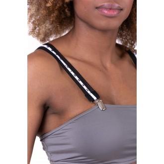 Nebbia Bikini top bandeau s odnímateľnými trakmi 672 - Sivý