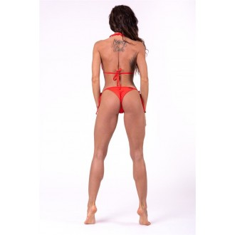 Nebbia Šnurovacie scrunch butt bikini 673 Spodný diel - Červené