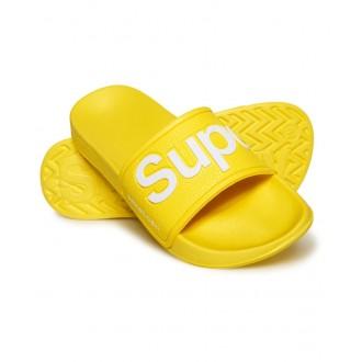 Superdry dámske šľapky EVA POOL SLIDE - Neonová žltá
