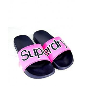 Superdry dámske šľapky Pool Slide Glitter - Ružové