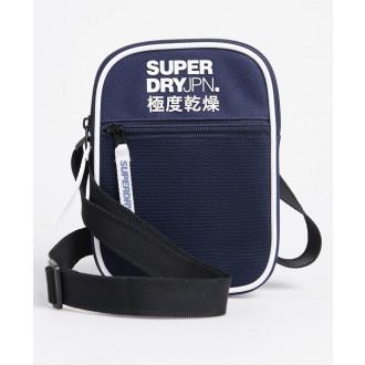 Superdry pánska náprsná taška Sports Pouch - Tmavomodrá