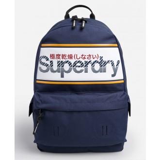 Superdry pánsky ruksak Stripe Logo Montana - Modrá