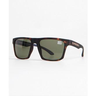Superdry pánske slnečné okuliare SDR Combat - Hnedé