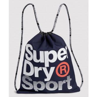Superdry pánsky športový batoh Drawstring - Tmavomodrý