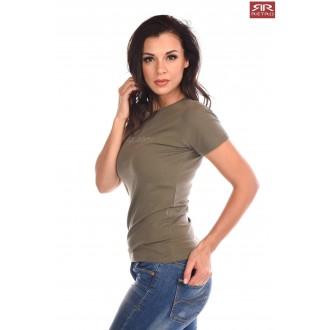 Retrojeans dámske tričko Clara - Khaki