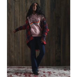 Superdry dámska mikina Vintage - Ružová