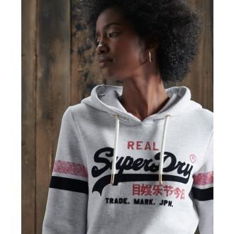 Superdry dámska mikina Vintage Logo - Svetlo sivá