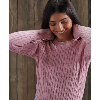 Superdry dámsky pulóver Croyde - Ružový