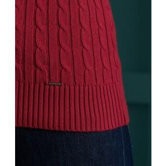 Superdry dámsky pulóver Croyde - Červený