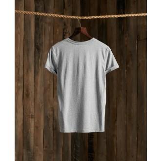 Superdry dámske tričko Patina - Sivá