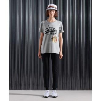 Superdry dámske tričko NYC Photo - Sivá
