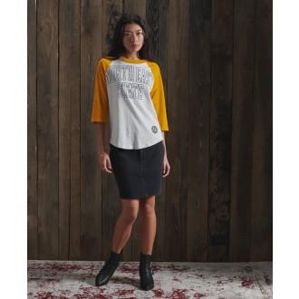 Superdry dámske tričko Baseball - Žltá