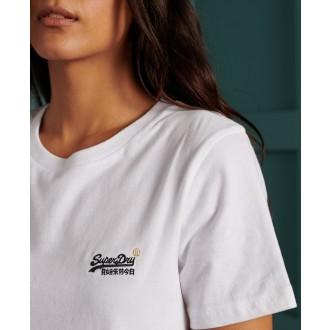 Superdry dámske tričko Organic Cotton - Biele
