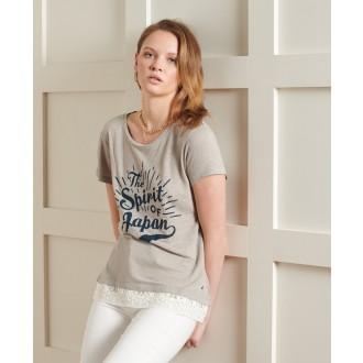 Superdry dámske tričko Montauk - Sivá