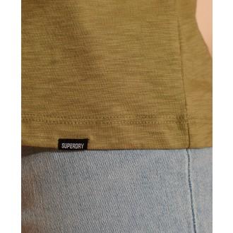 Superdry dámske tričko tričko s dlhými rukávmi Scripted - Zelená