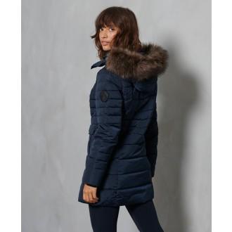 Superdry dámska zimná bunda Parka - Námornícka
