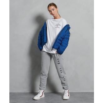 Superdry dámska bunda Classic Faux Fur Fuji - Modrá