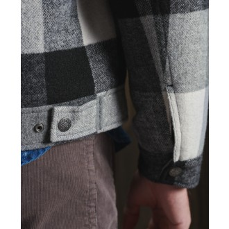 Superdry zimná bunda Highwayman - Čierna