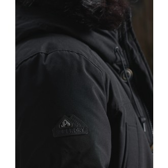 Superdry bunda Rookie Down Parka - Čierna