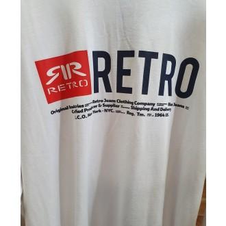 Retrojeans pánske dlhorukávové tričko Ermin - Biela