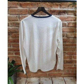 Retrojeans pánske dlhorukávové tričko Costa - Biela