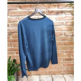Retrojeans pánske dlhorukávové tričko Costa - Tmavomodrá