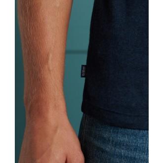 Superdry pánske tričko Classic V-Neck - Tmavomodré