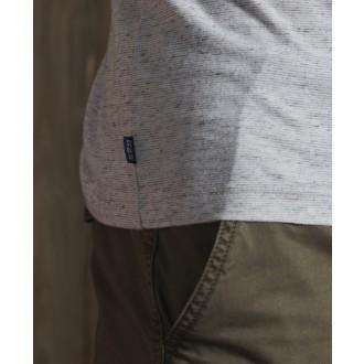 Superdry pánske tričko Embroidery - Svetlosivá