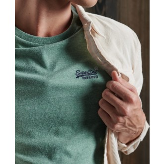Superdry pánske tričko Embroidery - Zelená